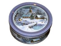 Печенье Monte Christo Зимний вечер в жестяной коробке 400грамм