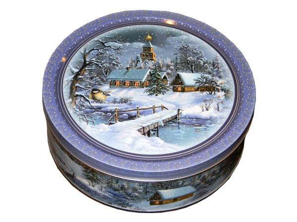 Печенье Monte Christo Зимний вечер в жестяной коробке 400 грамм
