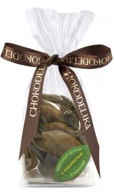 Конфеты Яблочные Кусочки в шоколаде с карамелью 80 г