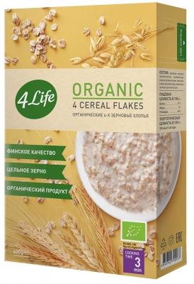 Хлопья 4Life органические 4-х зерновые 400 г
