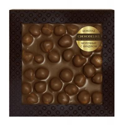 Chokodelika Неровный шоколад молочный с фундуком (блистер) 80 г