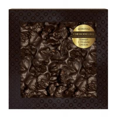 Chokodelika Неровный шоколад темный с грецким орехом (блистер) 80 г