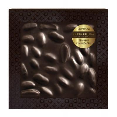 Chokodelika Неровный шоколад темный с миндалем (блистер) 80 г