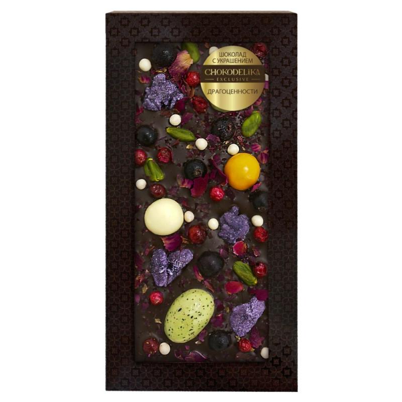 Chokodelika Шоколад с украшением драгоценности 100 г