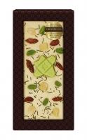 Шоколад белый с украшением с зеленым чаем, фисташками и годжи 100 г