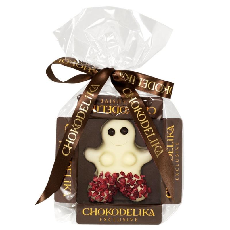 Chokodelika Конфета Человечек марципановый в белом шоколаде 31 г
