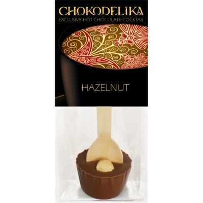 Chokodelika Шоколад молочный с украшением фундук (коктейль с ложкой) 50 г