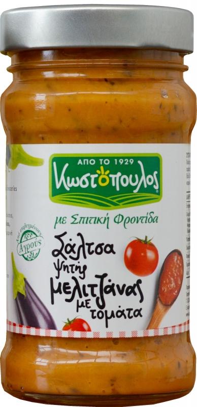 Закуска из запеченных в оливковом масле греческих баклажанов с томатами KOSTOPOULOS 300 г