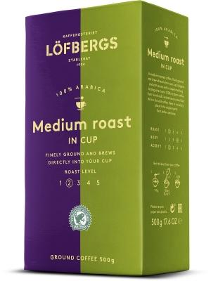 Молотый кофе Lofbergs Medium Roast 500 г