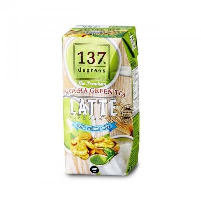 Латте с чаем маття 137 Degrees на молоке из грецкого ореха 180 мл