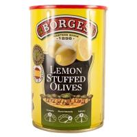 Оливки BORGES с лимоном 280грамм