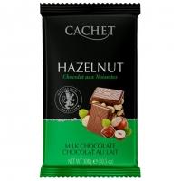Шоколад CACHET молочный с лесным орехом 300грамм