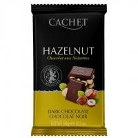 Шоколад CACHET темный с лесным орехом 300грамм