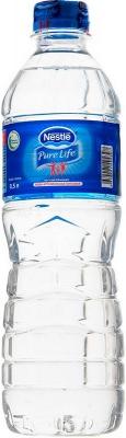 Вода Nestle Pure Life газированная столовая 0,5 л