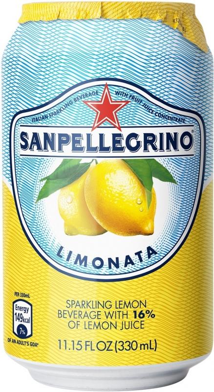 Лимонад San Pellegrino Lemonata  (Лимон) газированный сокосодержащий 0,33 л