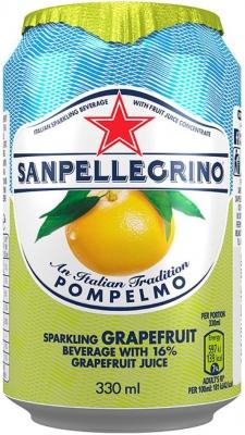 Лимонад San Pellegrino Pompelmo (Грейпфрут) газированный сокосодержащий 0,33 л