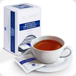 """Чай черный Althaus Альтхаус """"Инглиш Брекфаст Сент Эндрюс"""" пакетированный для чашки"""