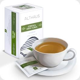 """Чай зеленый Althaus Альтхаус """"Китайский Чжу Ча"""" пакетированный для чашки"""