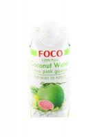 Кокосовая вода FOCO с розовой гуавой без сахара 330 мл