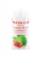 Кокосовая вода FOCO с сокомграната без сахара 330 мл