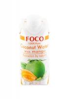 Кокосовая вода FOCO с манго без сахара 330 мл