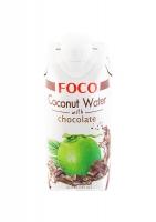 Кокосовая вода FOCO с шоколадом 330 мл