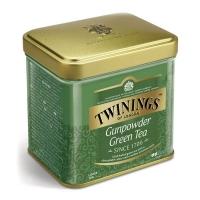 Чай Twinings зеленый листовой Ганпаудер 100гр