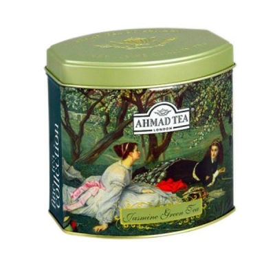 Чай Ахмад зеленый листовой с Жасмином 100 гр в железной банке