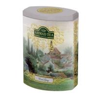 Чай Ахмад Эрл Грей Цейлонский черный листовой 100 гр в железной банке
