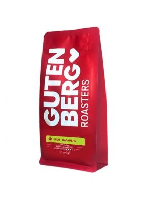 Кофе в зернах ароматизированный Gutenberg Крем Карамель 250 г