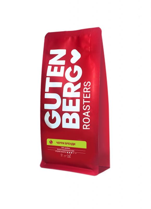 Кофе в зернах ароматизированный Gutenberg Черри бренди 250 г