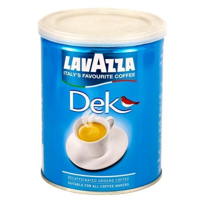 Кофе Lavazza Dek (Caffe Decaffienato) молотый без кофеина в банке 250 г