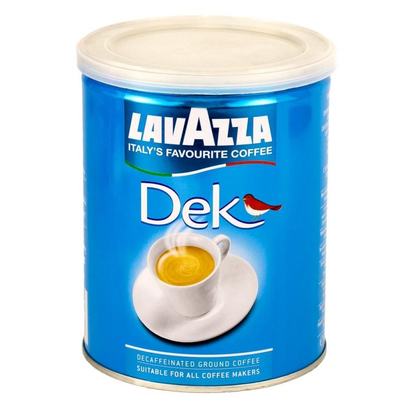 Кофе Lavazza Dek без кофеина молотый 250 гр в банке