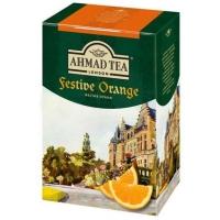 Чай Ахмад Фестив Оранж черный с ароматом апельсина листовой 200 гр