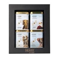 Newby Подарочный набор №4: Дикая Жизнь листовой чай в 4-х железных банках 145 г