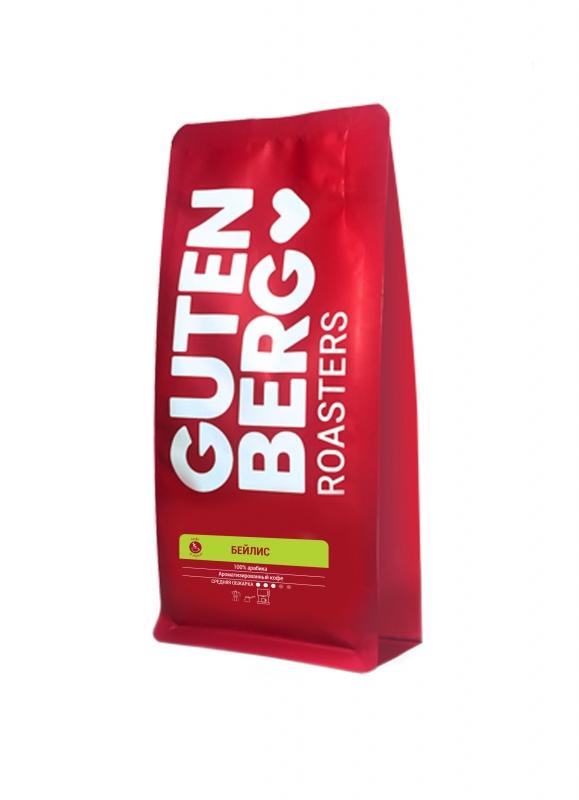 Кофе в зернах ароматизированный Gutenberg Бейлис 250 г