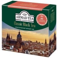 Чай Ахмад Классический черный в пакетиках 40штук