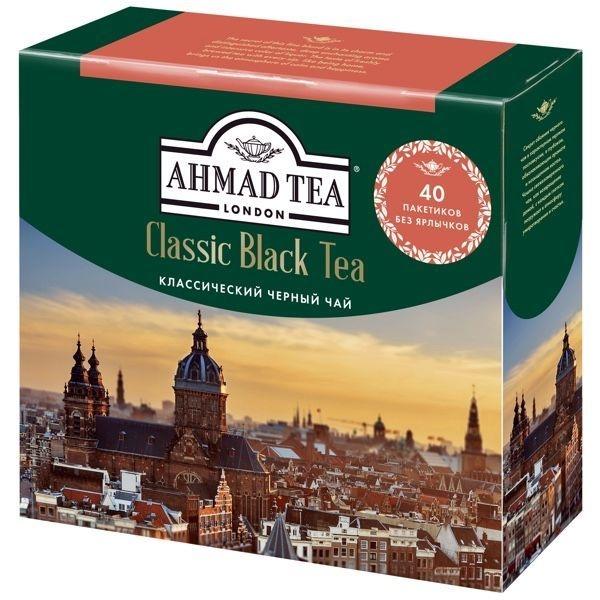 Чай Ахмад Классический черный в пакетиках 40 штук