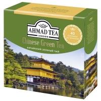 Чай Ахмад зеленый Китайский в пакетиках 40 штук