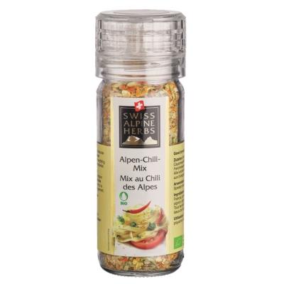 Смесь Swiss Alpine Herbs специй с альпийскими травами острая (без соли) 32 г мельница