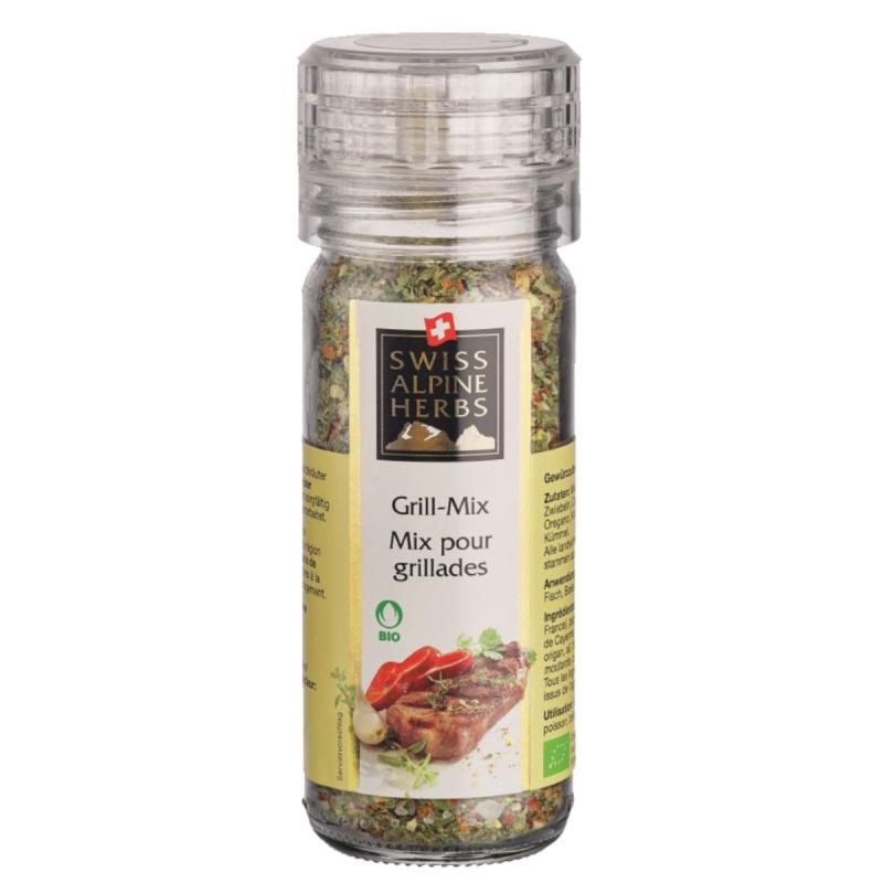 Смесь Swiss Alpine Herbs специй для барбекю 48 г мельница