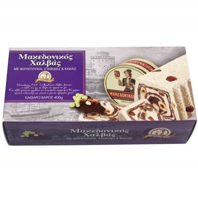 Македонская халва Haitoglou Macedonian Halva с фундуком, изюмом и какао 400 г