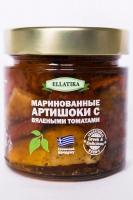 Маринованные артишоки с вяленными томатами в подсолнечном масле Ellatika 220 г