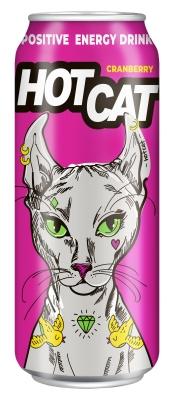 Напиток энергетический газированный HotCat Cranberry 0,45 л