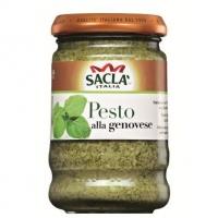 Классический песто-соус Sacla для макарон с базиликом 190 гр