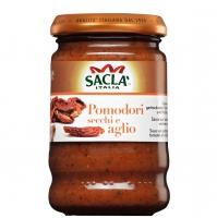 Соус-приправа для макарон Sacla с высушенными на солнце томатами и чесноком 190гр