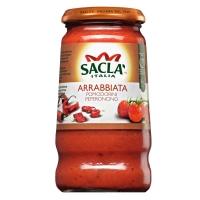 Соус Sacla Арраббиата с цельными томатами черри и перцем чили 420 гр