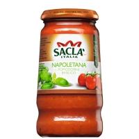 Соус Sacla Неаполетана с цельными томатами черри и базиликом 420гр