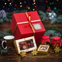 Красивый подарочный набор в двухъярусной шкатулке Слайдер