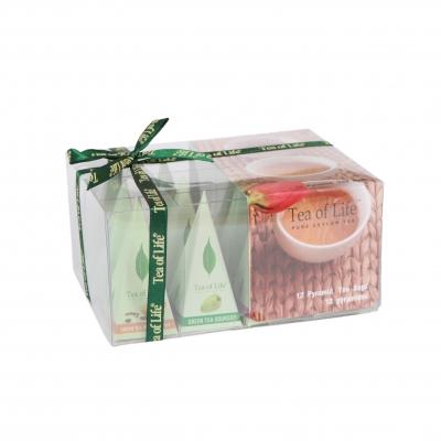Подарочная чайная коллекция Tea of Life Green Tea Pyramid Collection в пирамидках 12 шт 24 г